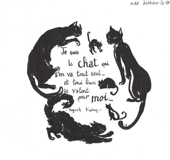 Le chat qui s'en va tout seul