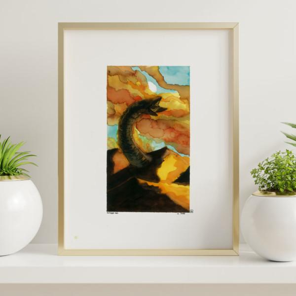 Illustration en vente d'un vers des sable de Dune